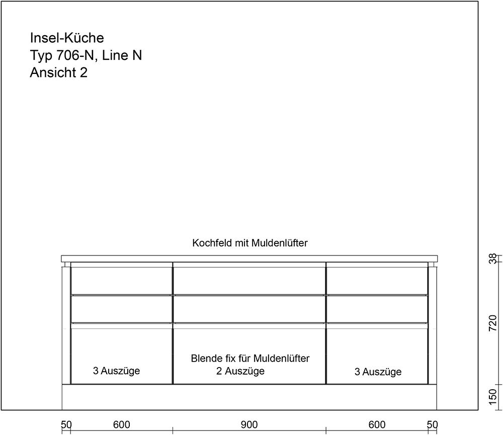 Pblende Küche   Kuche Typ 706 Vorschlag 2 Maerki Onlineshop